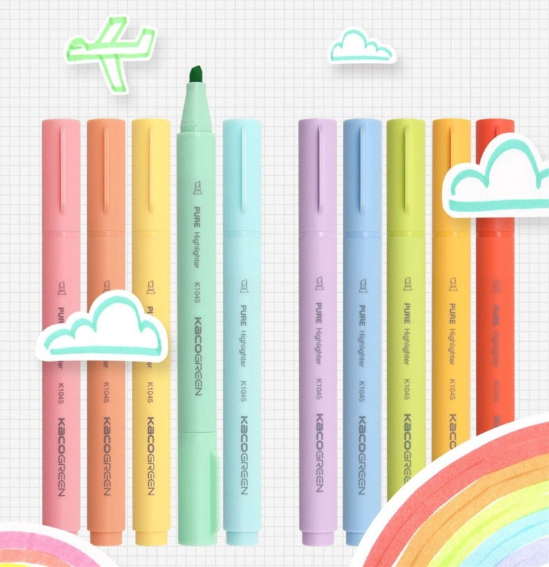 Water-Based Marker watercolor marker Felt tip pen broad line pen highlighter pen Colour pencil Colored Pencils Colour pen set