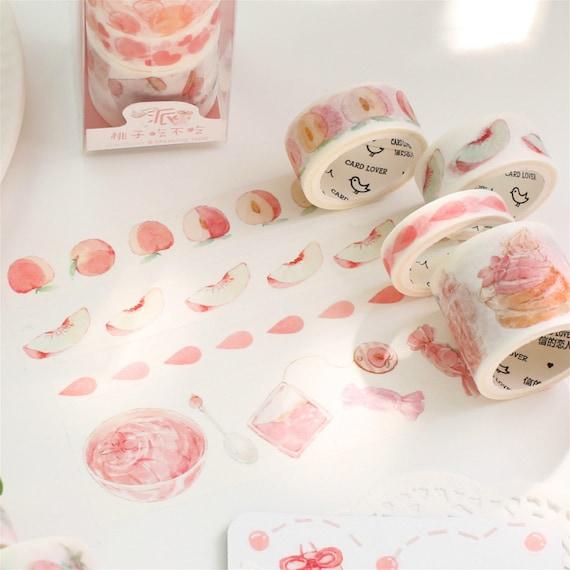 Washi Tape Cheap Washi Tape Adorable Washi Tape Peach Washi Tape Kawaii Washi Tape Peaches Cute Washi Tape Peach Washi Tape