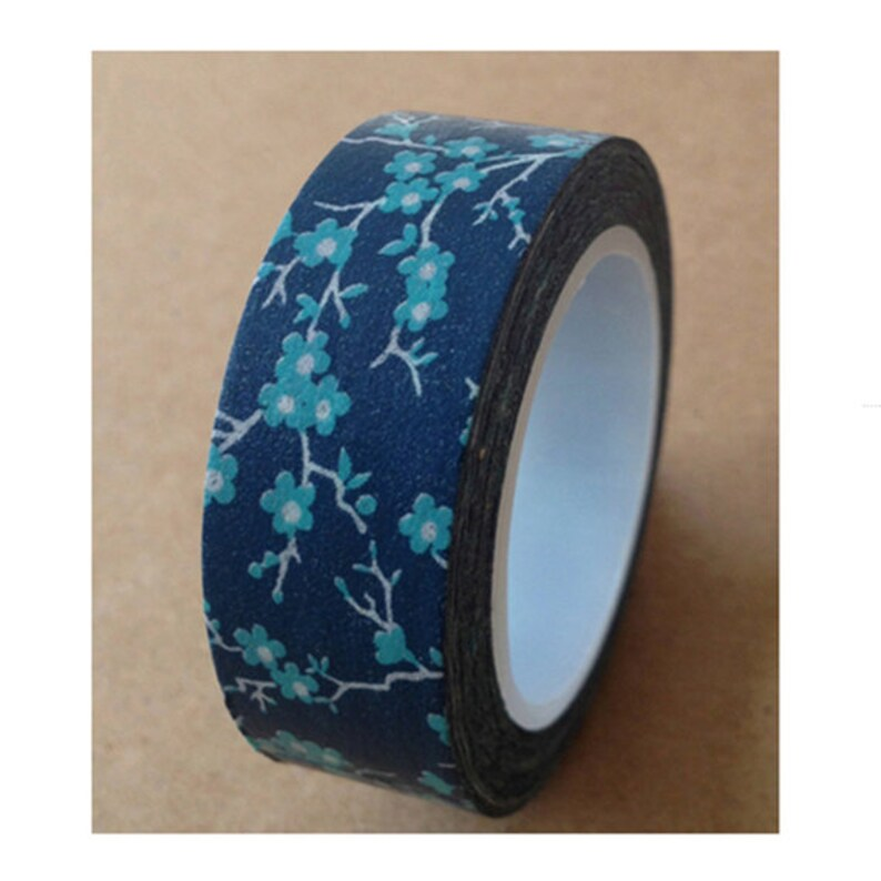 Mazarine Washi Tape Blue Washi Tape Flower Washi Tape Plum Blossom Washi Tape Washi Tape