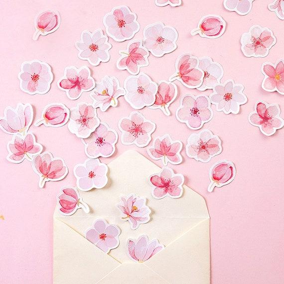 Cherry Blossom Stickers Sakura Flower Floral Craft Scrapbook Card DIY Best B$