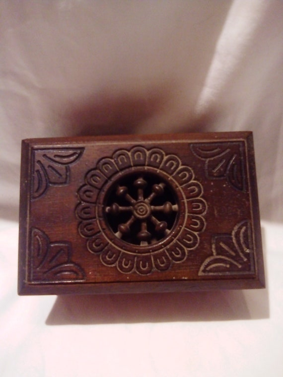 Handcarved traditional Breton wooden box