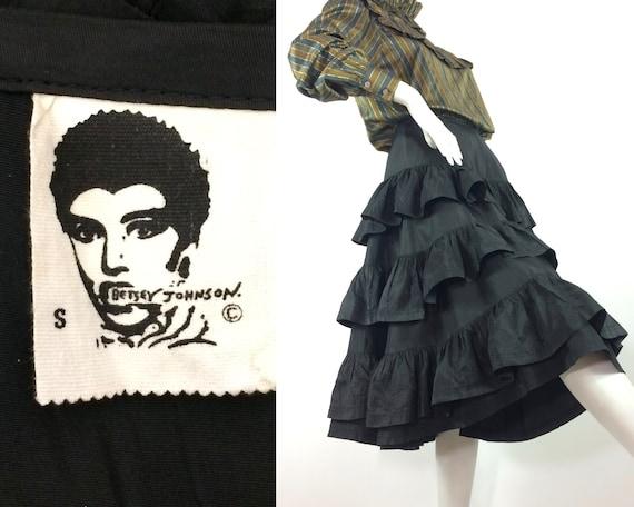 1970s vintage Betsey Johnson Punk label taffeta Ra