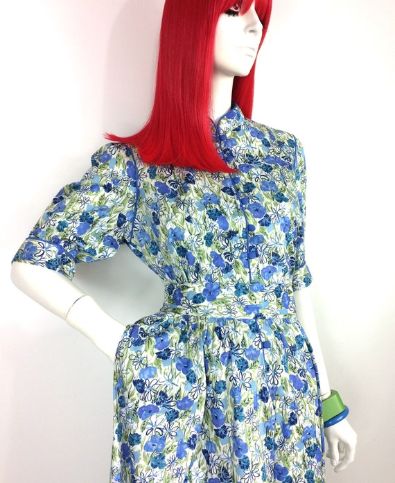 1970s vintage Liberty cotton dress / poppies / da… - image 5