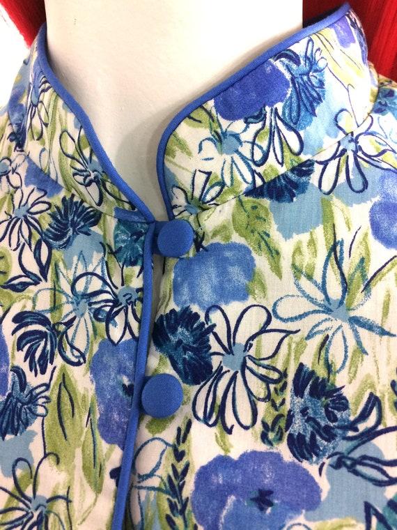 1970s vintage Liberty cotton dress / poppies / da… - image 7