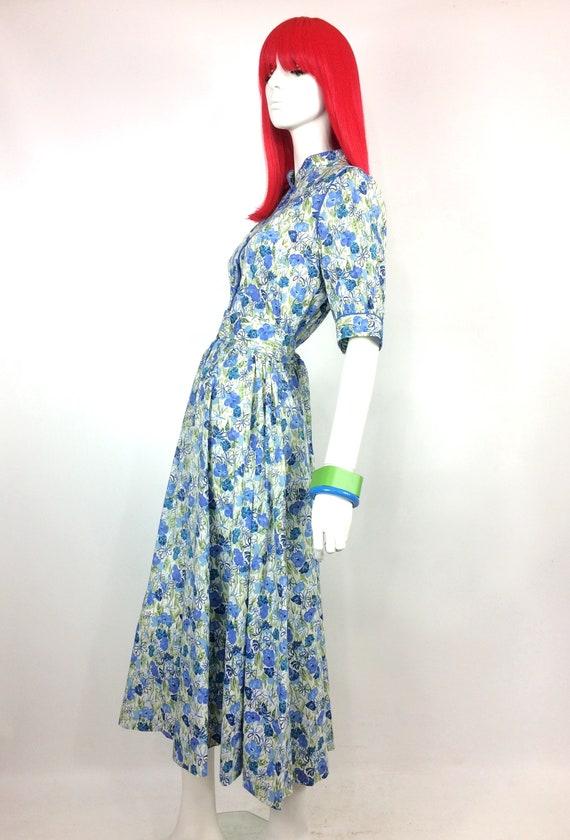 1970s vintage Liberty cotton dress / poppies / da… - image 10