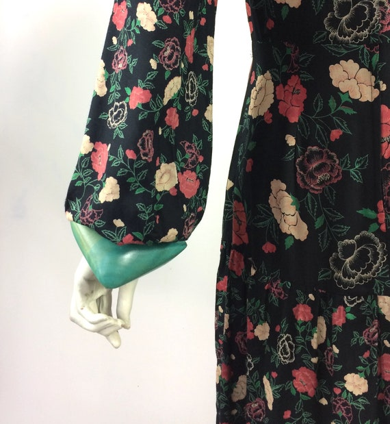 1970s vintage rose print gown by Rembrandt / maxi… - image 6