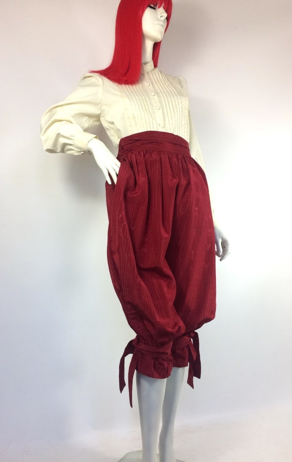 1970s vintage cream cotton prairie blouse / brode… - image 10