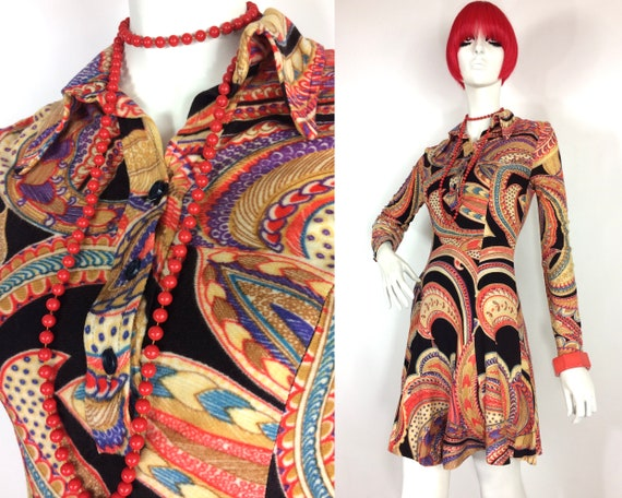 1960s vintage paisley psychedelic Louis Caring MOD