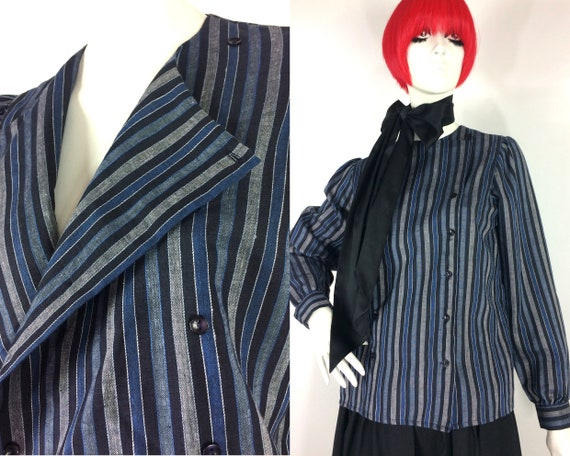 1980s vintage striped cotton tunic / blouse / Libe