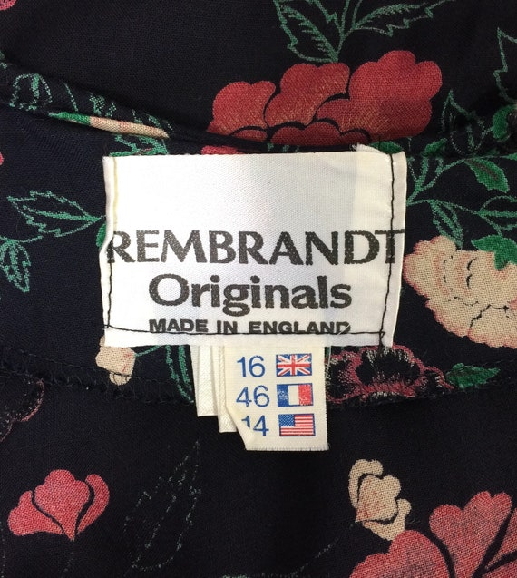 1970s vintage rose print gown by Rembrandt / maxi… - image 10