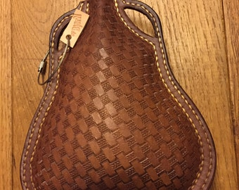 Leather flask - leather bottle