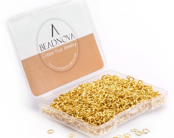 300+ 7mm 19ga Gold Jump Rings OPEN 7mm OD  5.2mm ID 0.9mm Thick Plated Or Silver /& Bronze Connectors LeadNickel Free Diy Jewelry Supply