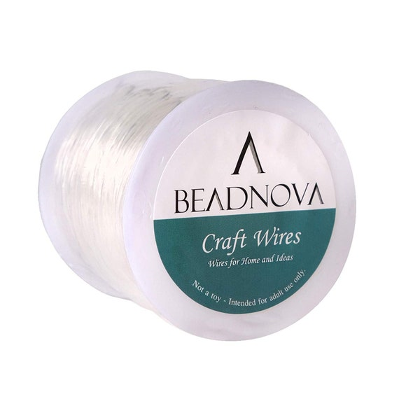 2Pcs Nylon Beading Wire Thread Cord Clear 1mm x 100M Fishing Wire