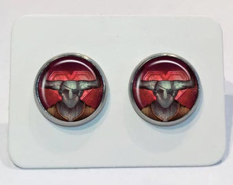 Stainless Stud Earrings Dragon Age Romance Iron Bull