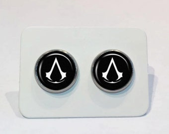 Stainless Stud Earrings Assassin's Creed Symbol