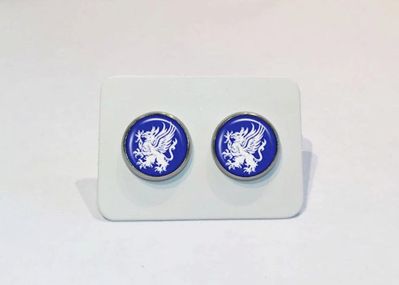 Stainless Stud Earrings Dragon Age Grey Warden Symbol Etsy