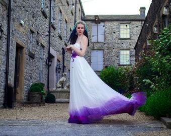Dip Dye Wedding Dress Etsy,Black Wedding Guest Dress Outfit