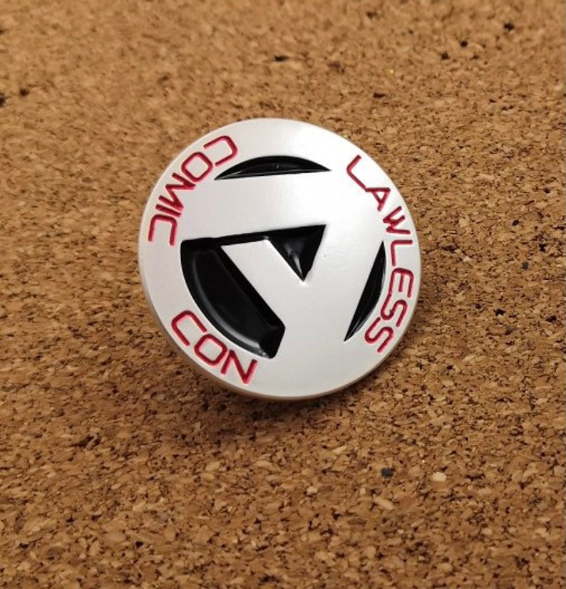 Lawless Comic Con enamel pin badge. image 0