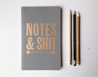Notes & Shit - Letterpress Moleskine Journal