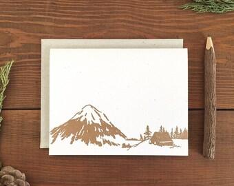 Letterpress Card - Camp Notes - Mountainside Wilderness Campsite
