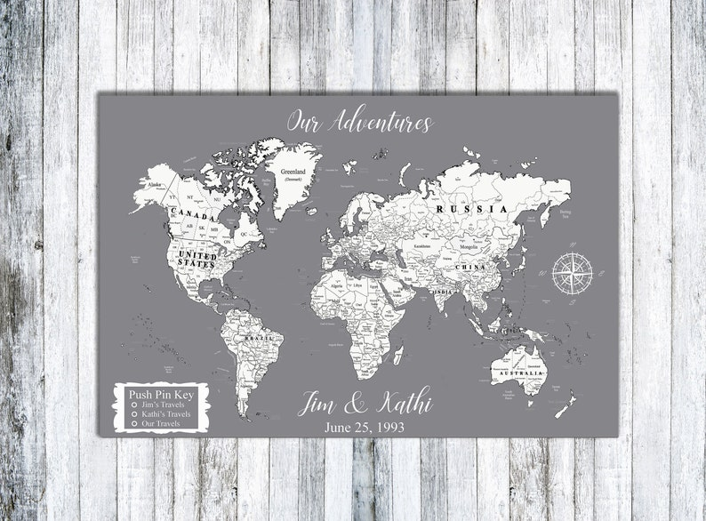 Personalized Magnetic Map World Map Map Of The World | Etsy