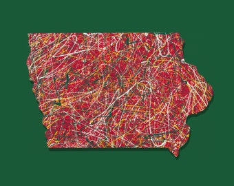 Iowa Art, Iowa Wild Art, Iowa Wild Hockey Art, Iowa Wild Art Print, Hockey Art, Man Cave Decor, Iowa Sports Art, Iowa Art