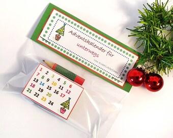 Mini advent calendar for on the go, trouser pockets advent calendar, advent calendar in the matchbox