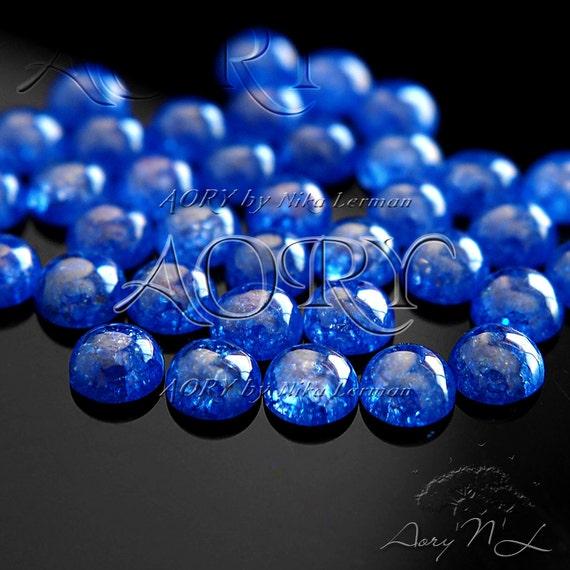1pcs 10mm Aqua Blue Ice Cubic Zirconia Cabochon Aqua Blue Color Ice Brilliant Round Shape Cabochon Beautiful Cubic Zirconia H4E