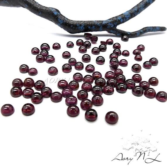 AW454BN Smooth Polished Cabochon Flat Back Dark Wine Glass Cabochon Round Shape Cabochon 1pcs 6mm Dark Wine Glass Cabochon
