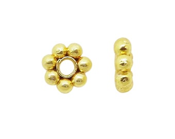 GF Bead Gold Fill Bead Findings Gold Fill Findings 11 PCS 8mm 18K Gold Fill Spacer Bead Wholesale Pricing,