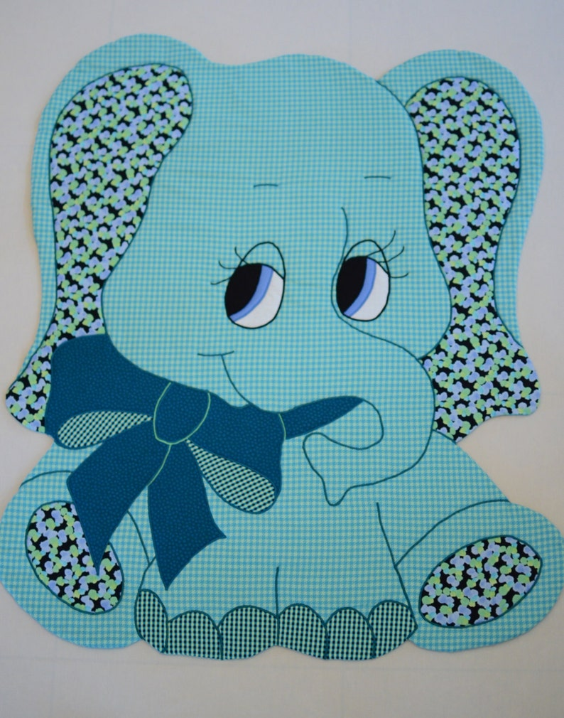 Elephant Quilt Pattern Baby Blanket Patern Quilt Boy Girl Quilt Patterns  Easy Animal Quilt Pattern Modern Baby Quilt Kit Kiddie Komfies 101