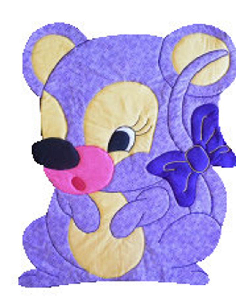 Mouse Quilt Patterns Baby Blanket Pattern Quilt Boy Pattern Quilt Girl Easy Quilt Pattern Animal Sewing Baby Quilt Kit Kiddie Komfies 105