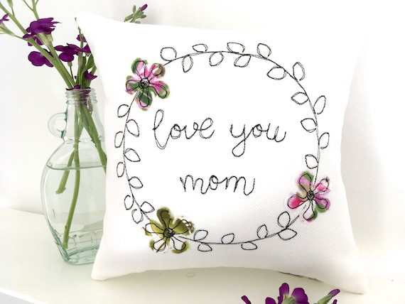 Mothers Day Gift Love You Mom Pillow Small Moms