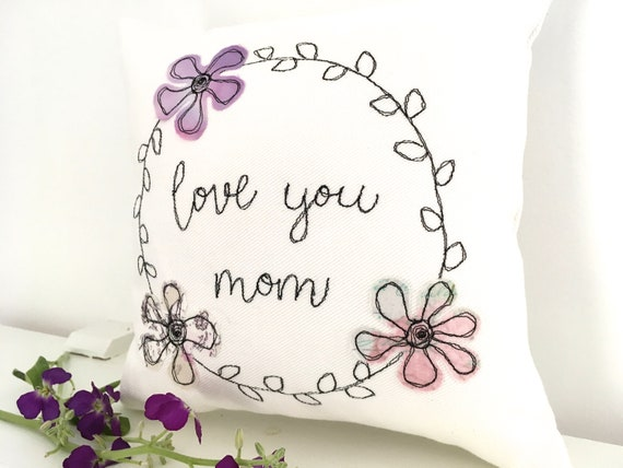 Love You Mom Pillow Small Gift For Moms