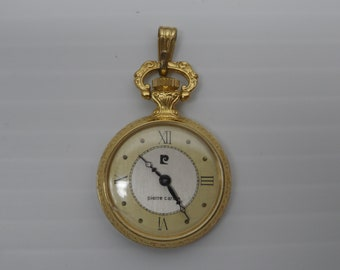 Japan Movt Good Pierre Nicol Pocket Watch With Chain And Case Vintage