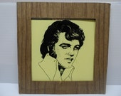 Carnival Art Elvis Presley Glass Portrait, 1970 39 s