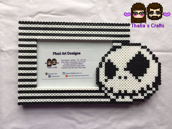 Jack Skellington Themed Picture Frame nightmare before | Etsy