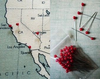 30 red needles