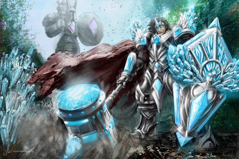 Taric The Gem Knight League of Legends poster print | Etsy Gem League Of Legends
