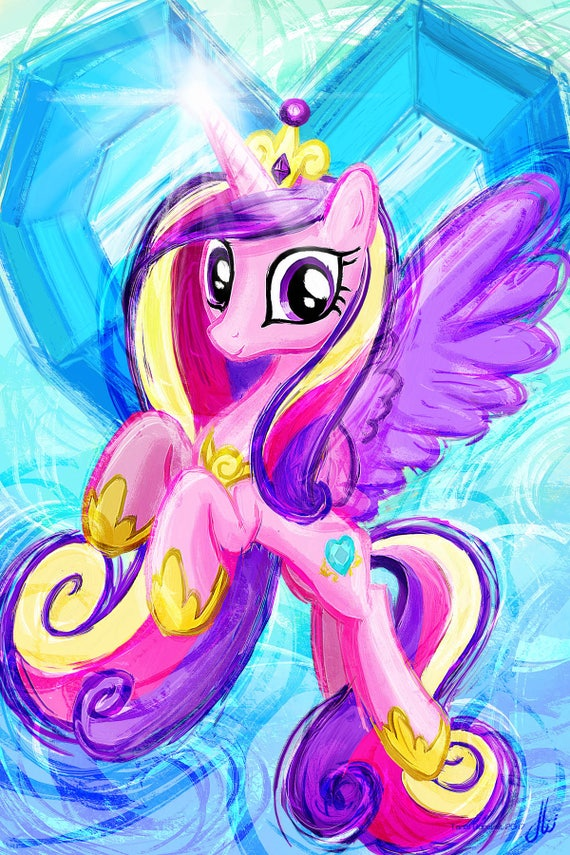 Princess Cadence My Little Pony Friendship Is Magic Art Etsy