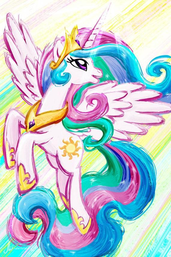 Princess Celestia My Little Pony Friendship Is Magic Art Etsy