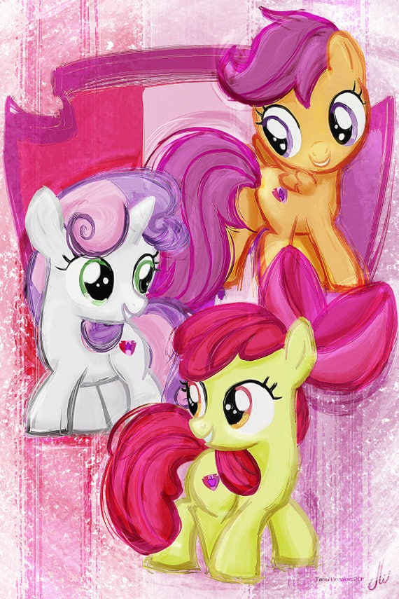 Cutie Mark Crusaders Sweetie Belle Apple Bloom Scootaloo Etsy Submit your artwork by the end of february 10th february 15th we'll accept digital or traditional paintings/drawings, comics, vectors, and animations. cutie mark crusaders sweetie belle apple bloom scootaloo my little pony friendship is magic art print poster