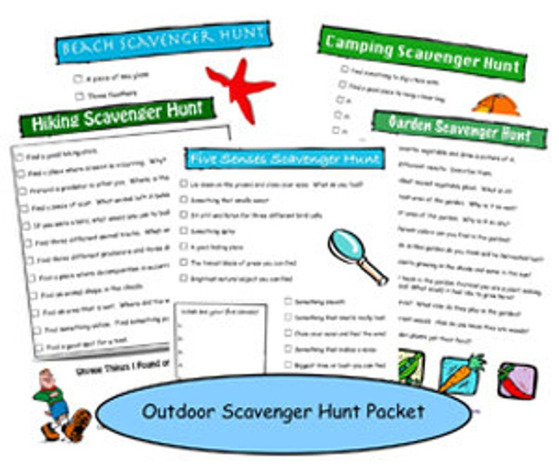 image about Camping Scavenger Hunt Printable referred to as Outside Scavenger Hunt Printable Packet