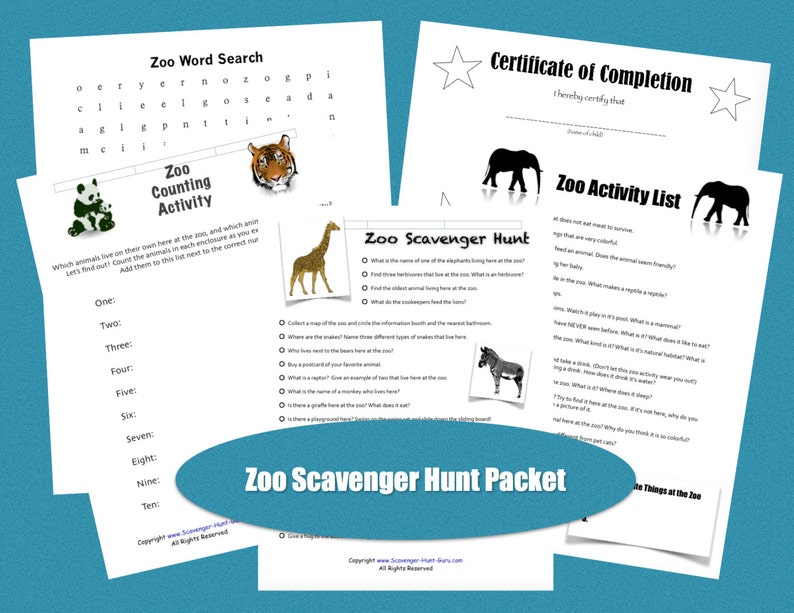 image relating to Zoo Scavenger Hunt Printable identify Zoo Scavenger Hunt and Zoo Video game Printables