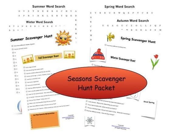 Seasons scavenger hunt printables etsy maxwellsz