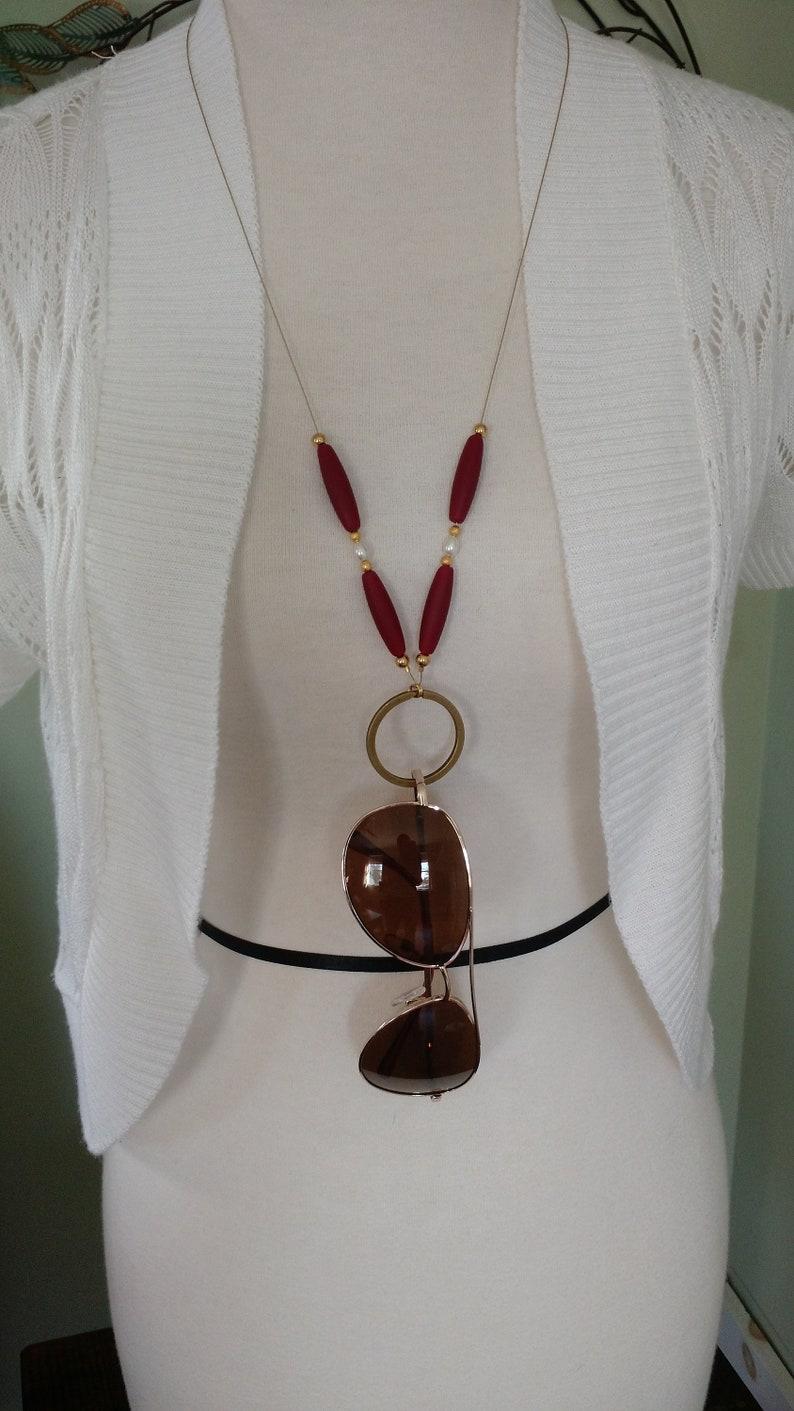 28 long badge lanyard Sunglass Lanyard glasses holder glasses necklace key lanyard summer necklace
