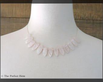 Necklace, Bridal, Swarovski, Pink, Bridesmaid, Bridal Party
