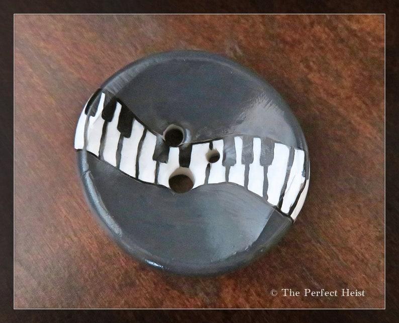 Wool Diz Music Roving Fiber 3 Holes Musical Piano Clay