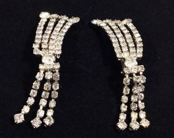 Art Deco Rhinestone Silver Chandelier Sweater/Fashion Clips