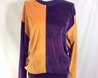 1960s YSL Color Blocked Fuzzy Mod Long Sleeved Sweater size M/L